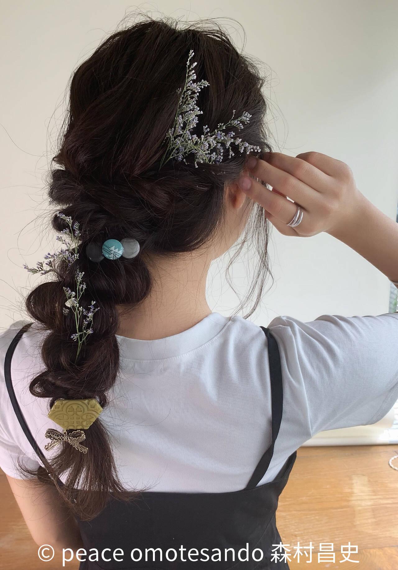 編みおろし 編みおろしヘア 簡単ヘアアレンジ ガーリーヘアスタイルや髪型の写真・画像
