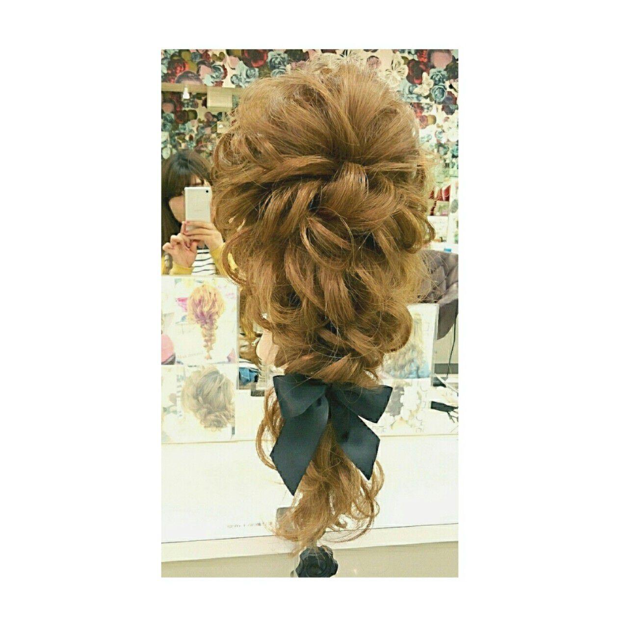 ヘアアレンジ 大人かわいい フェミニン 簡単ヘアアレンジヘアスタイルや髪型の写真・画像