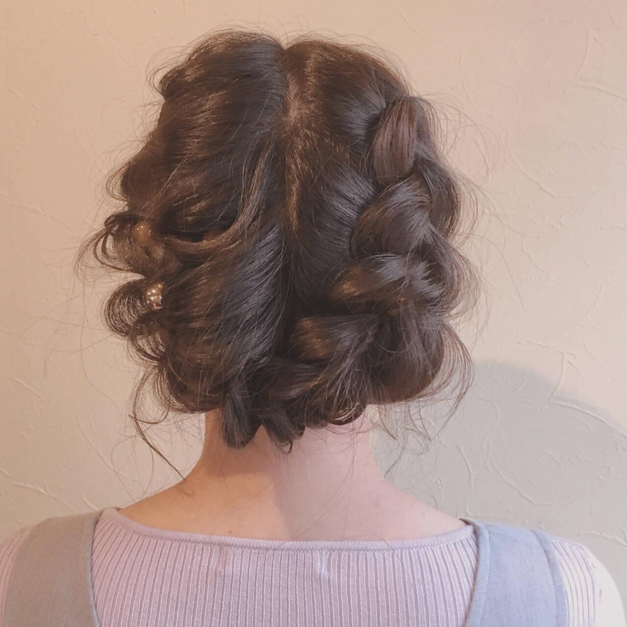結婚式 大人かわいい 謝恩会 ロングヘアスタイルや髪型の写真・画像