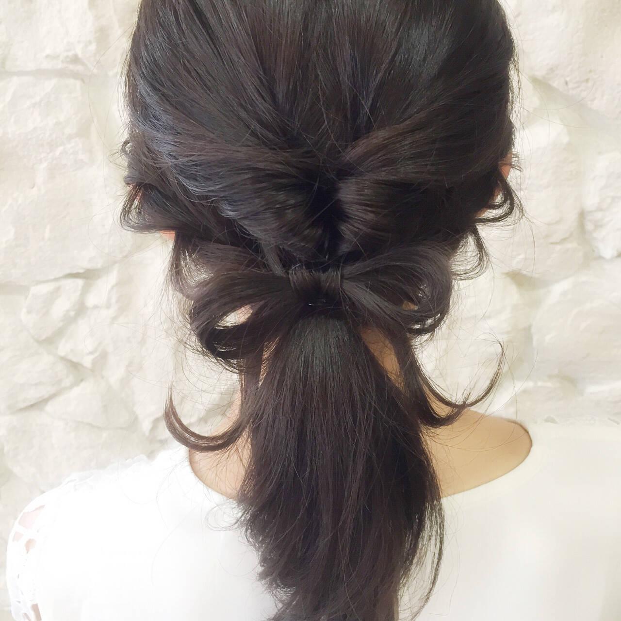 デート ナチュラル リラックス セミロングヘアスタイルや髪型の写真・画像