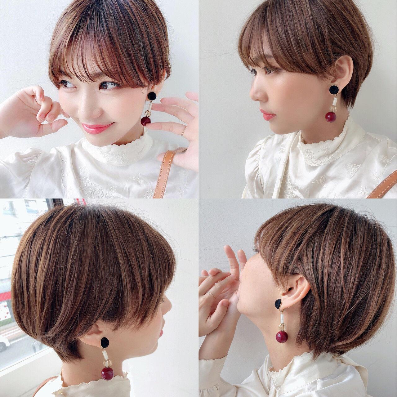 マッシュショート ショート ショートヘア ハンサムショートヘアスタイルや髪型の写真・画像
