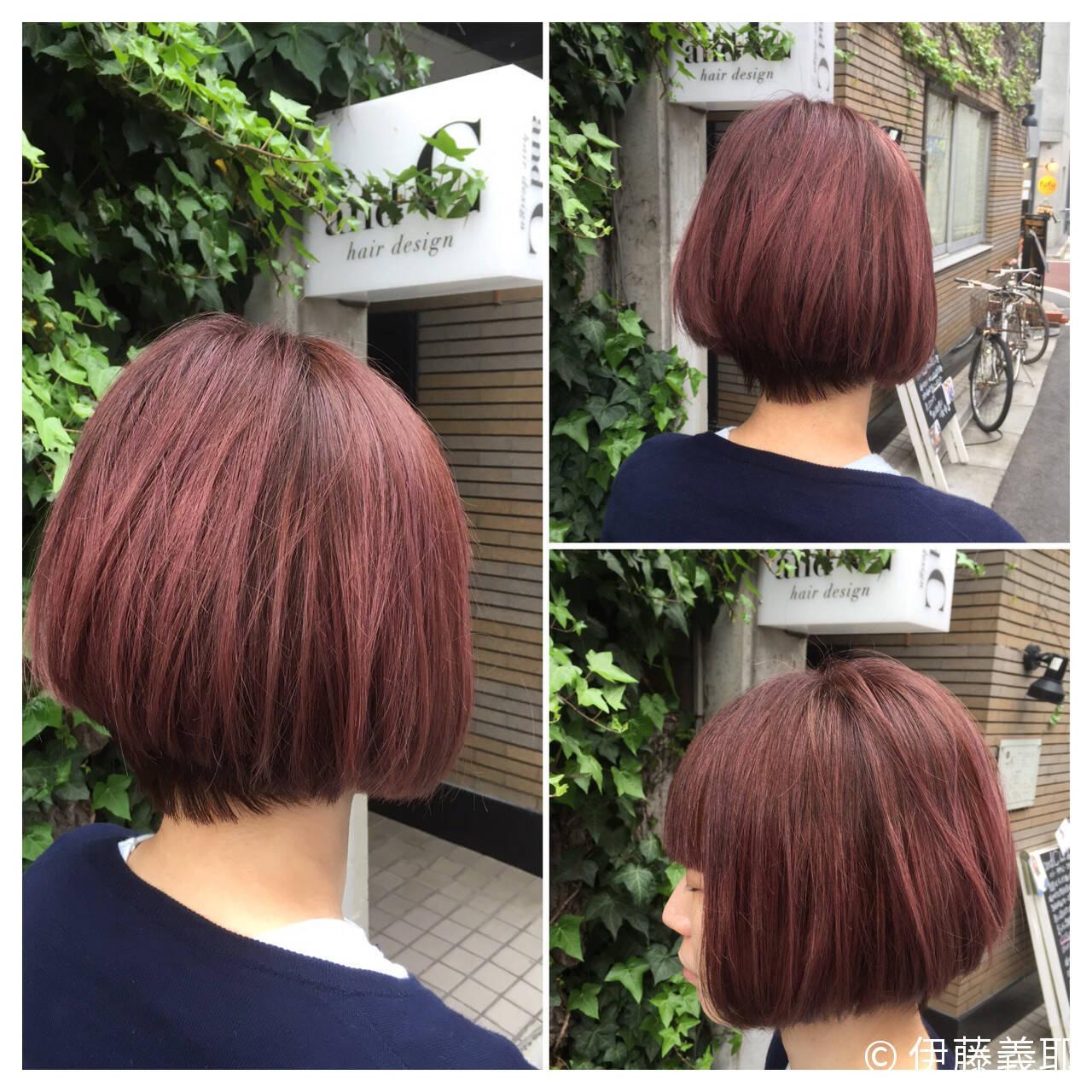 ストリート モード ピンク グラデーションカラーヘアスタイルや髪型の写真・画像