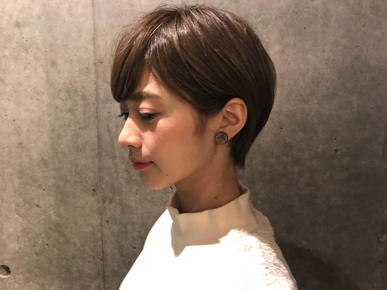 ナチュラル ショート 女子力ヘアスタイルや髪型の写真・画像