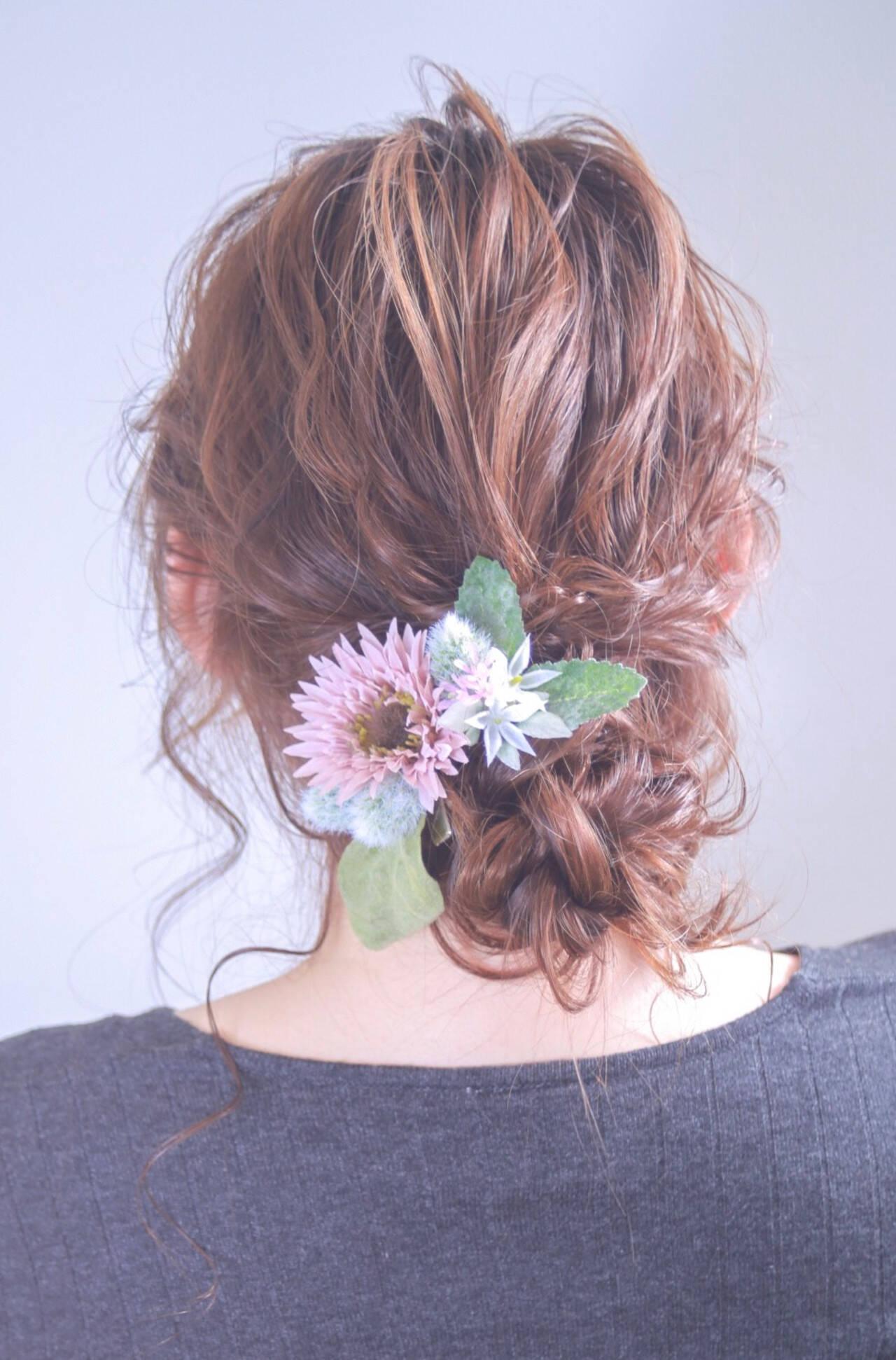 外国人風カラー ヘアアレンジ ロング ナチュラルヘアスタイルや髪型の写真・画像