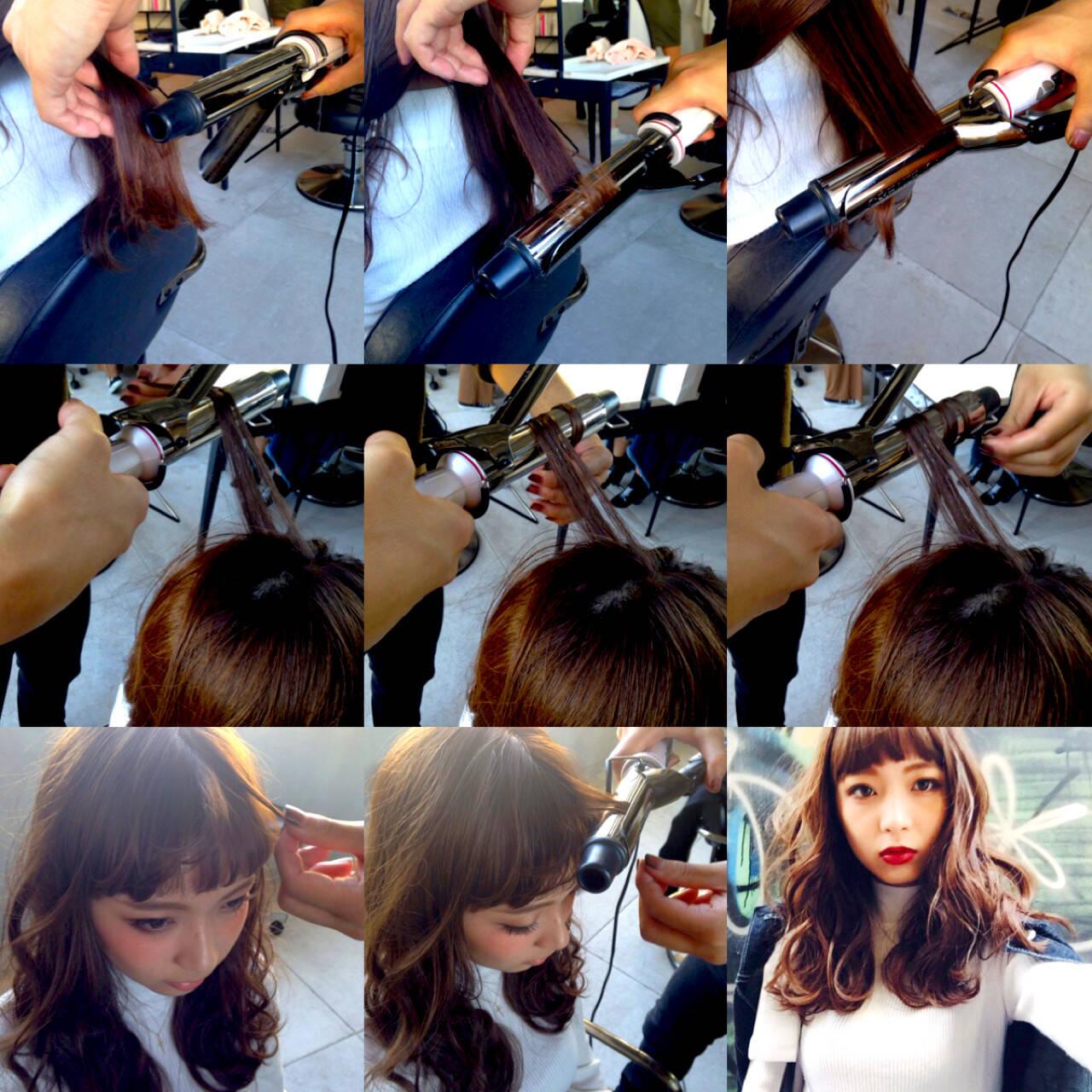 ストリート セミロング 暗髪 モードヘアスタイルや髪型の写真・画像