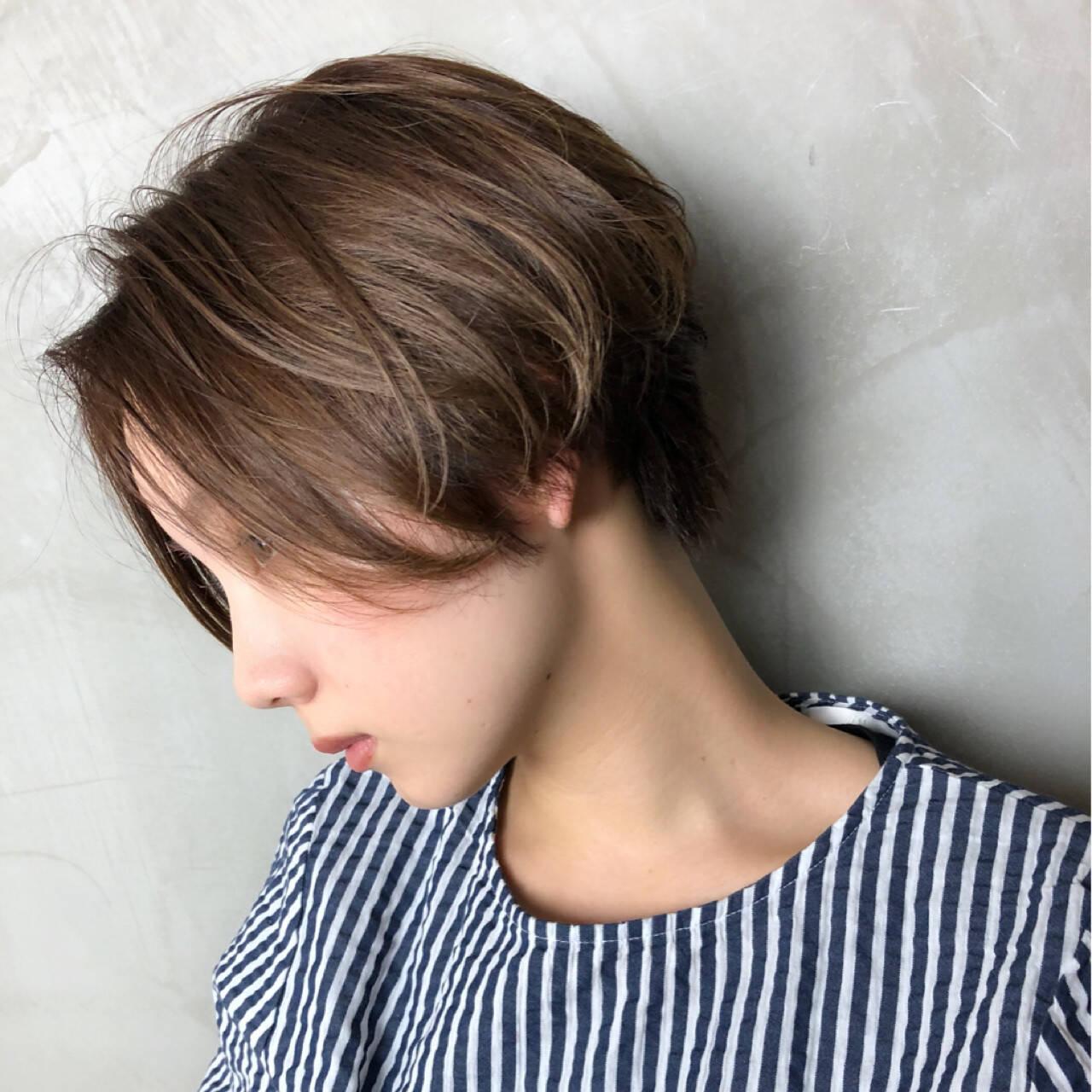 無造作 大人かわいい ショートボブ 前下がりヘアスタイルや髪型の写真・画像