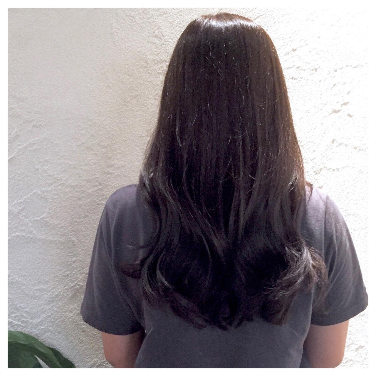 ロング グレージュ アッシュグレージュ アッシュヘアスタイルや髪型の写真・画像