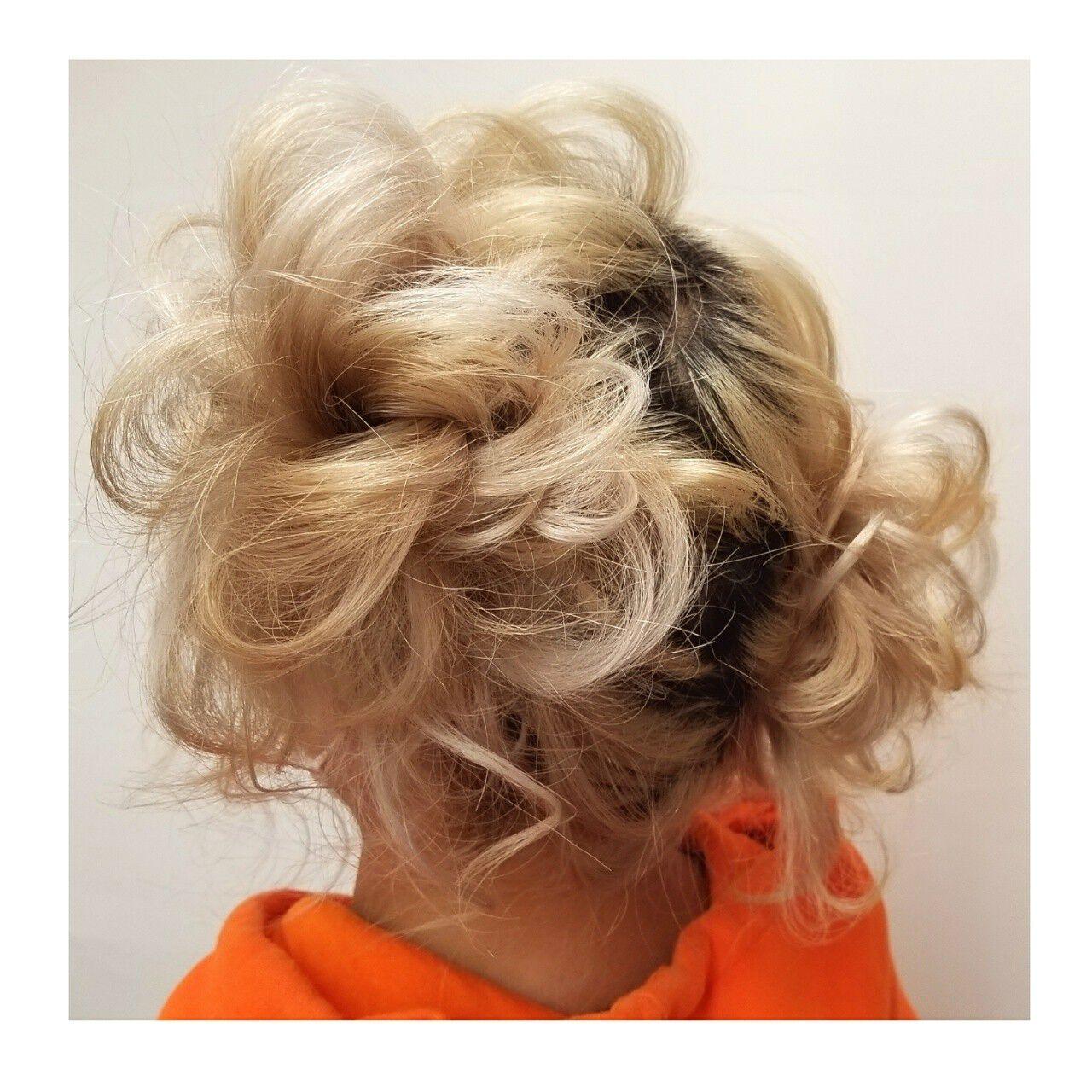 ヘアアレンジ セミロング 謝恩会 スポーツヘアスタイルや髪型の写真・画像