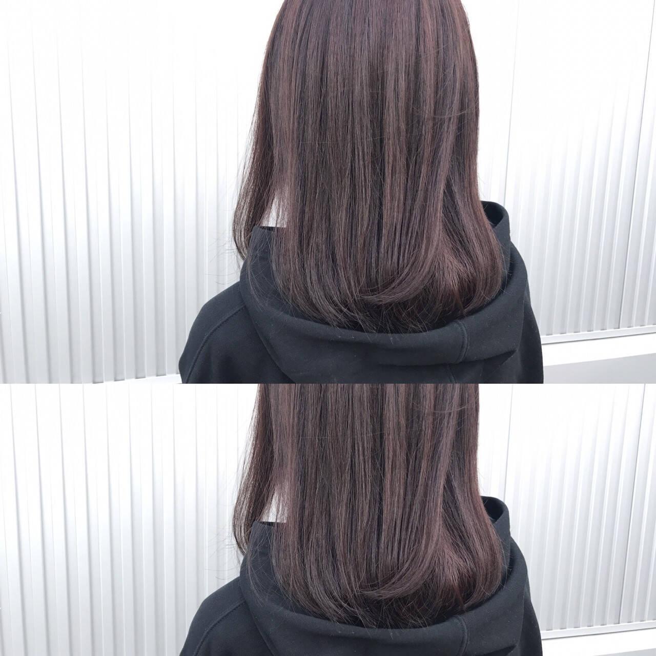 レッド ローズ ナチュラル ピンクヘアスタイルや髪型の写真・画像