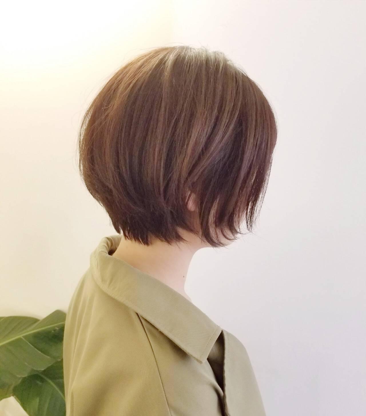 ショート ショートヘア ナチュラル 大人ショートヘアスタイルや髪型の写真・画像