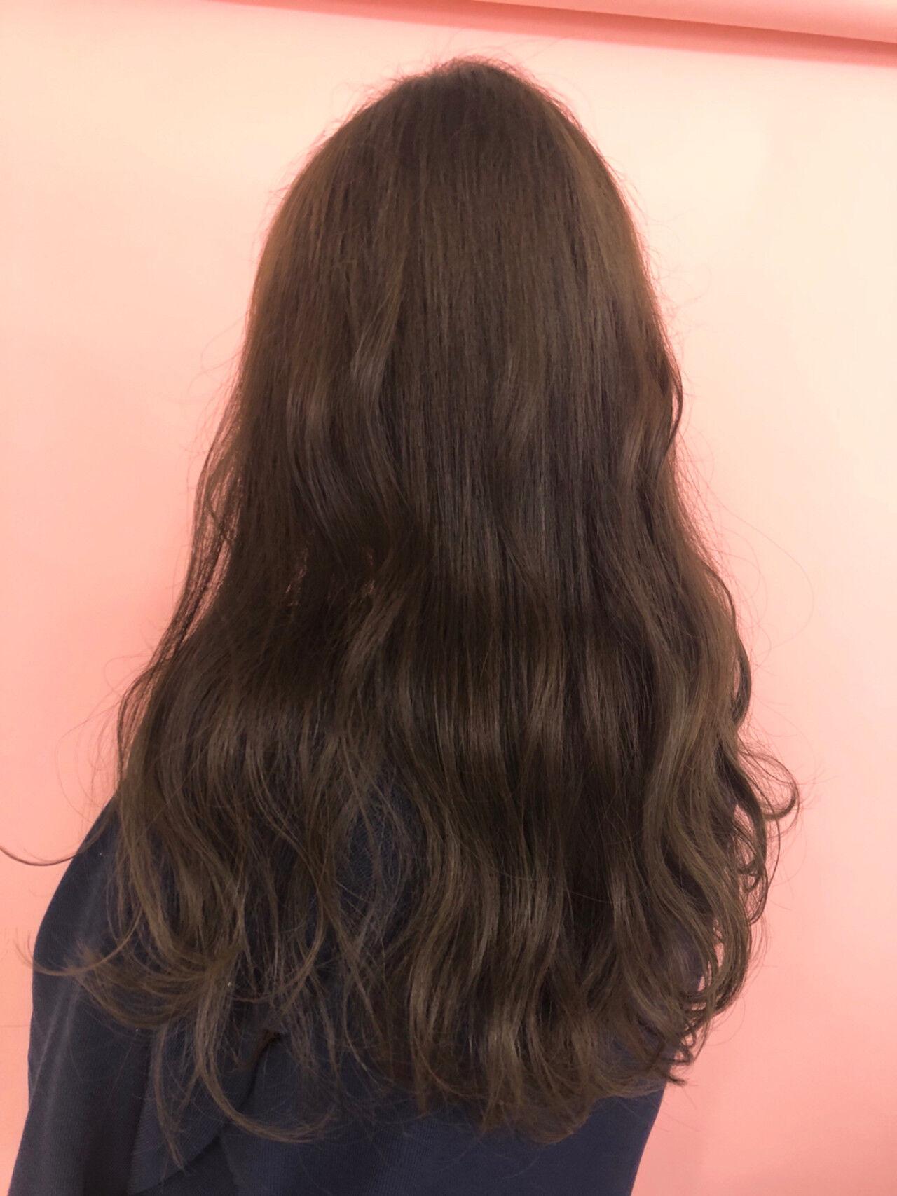 ベージュ 愛され ピンク ラベンダーピンクヘアスタイルや髪型の写真・画像