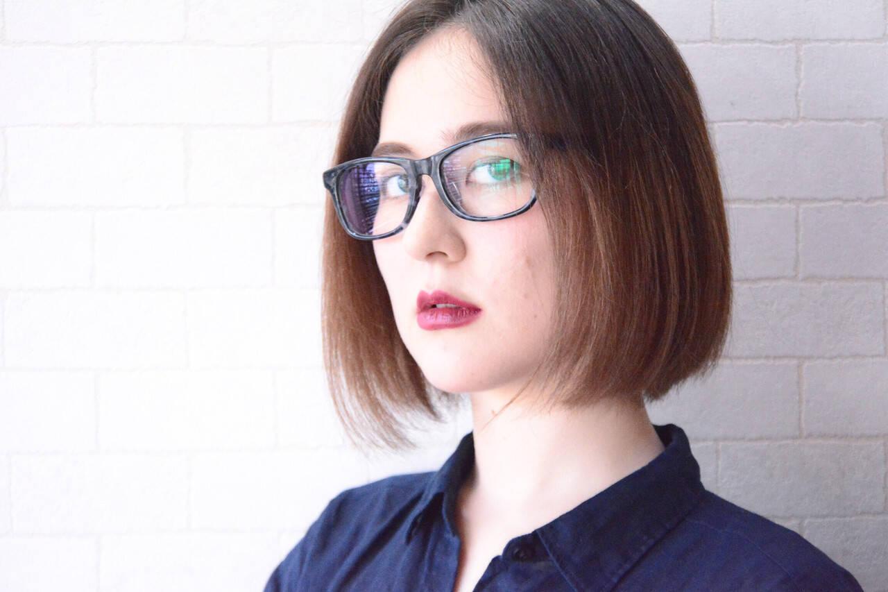 オフィス ナチュラル 縮毛矯正 髪質改善トリートメントヘアスタイルや髪型の写真・画像