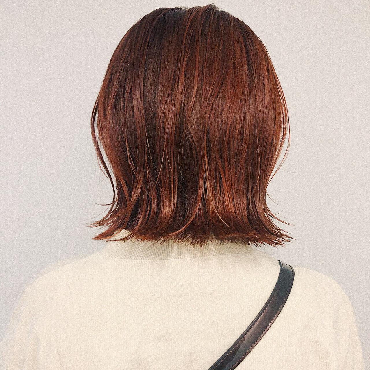 ガーリー 切りっぱなしボブ ボブ ショートボブヘアスタイルや髪型の写真・画像