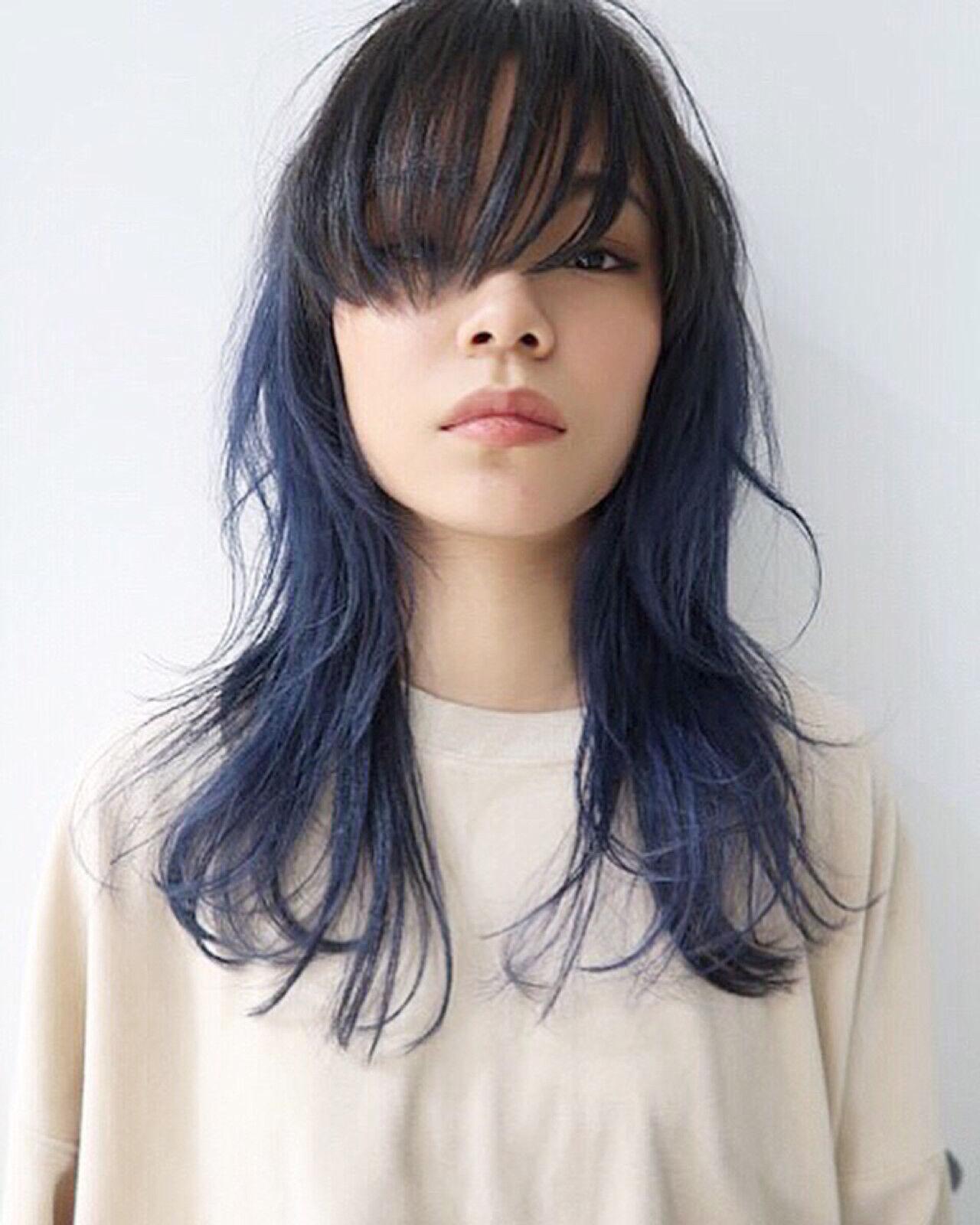ストリート アッシュ セミロング 外国人風カラーヘアスタイルや髪型の写真・画像