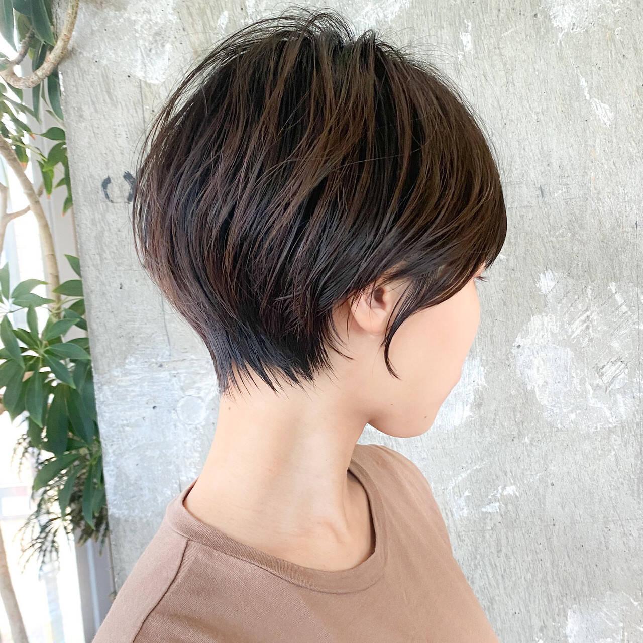 大人ショート ショート マッシュショート ショートヘアヘアスタイルや髪型の写真・画像