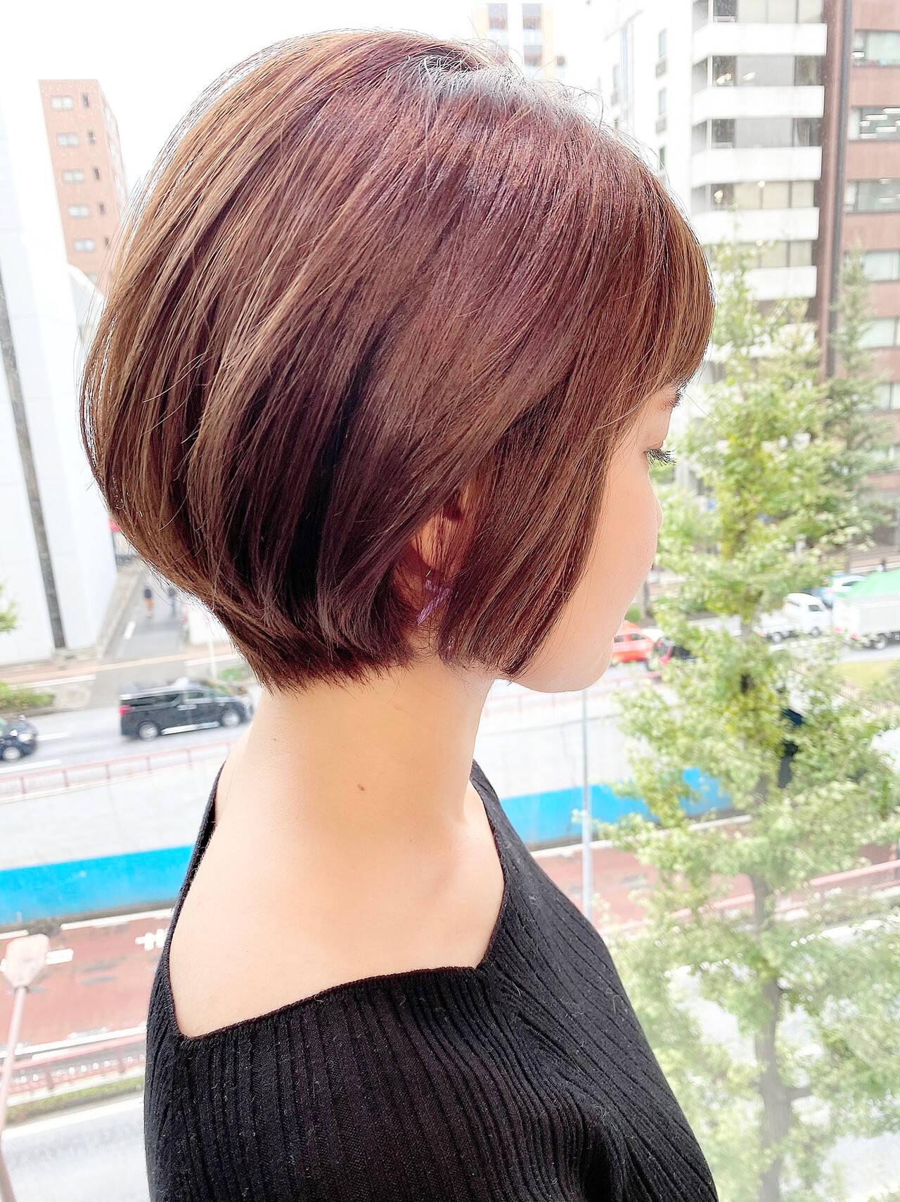 ショート ゆるふわ オフィス 大人かわいいヘアスタイルや髪型の写真・画像