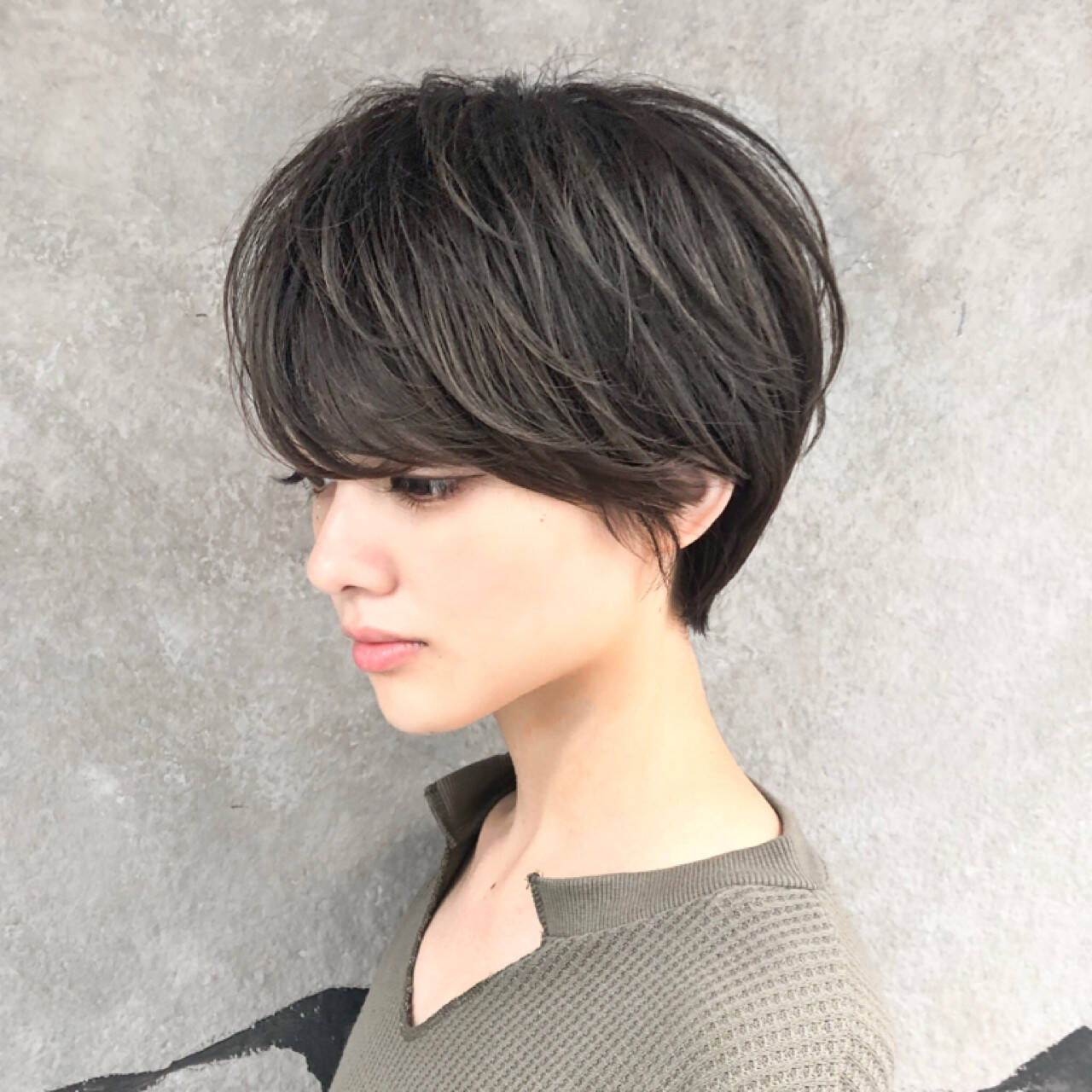 女子力 ナチュラル ショートボブ ショートヘアスタイルや髪型の写真・画像