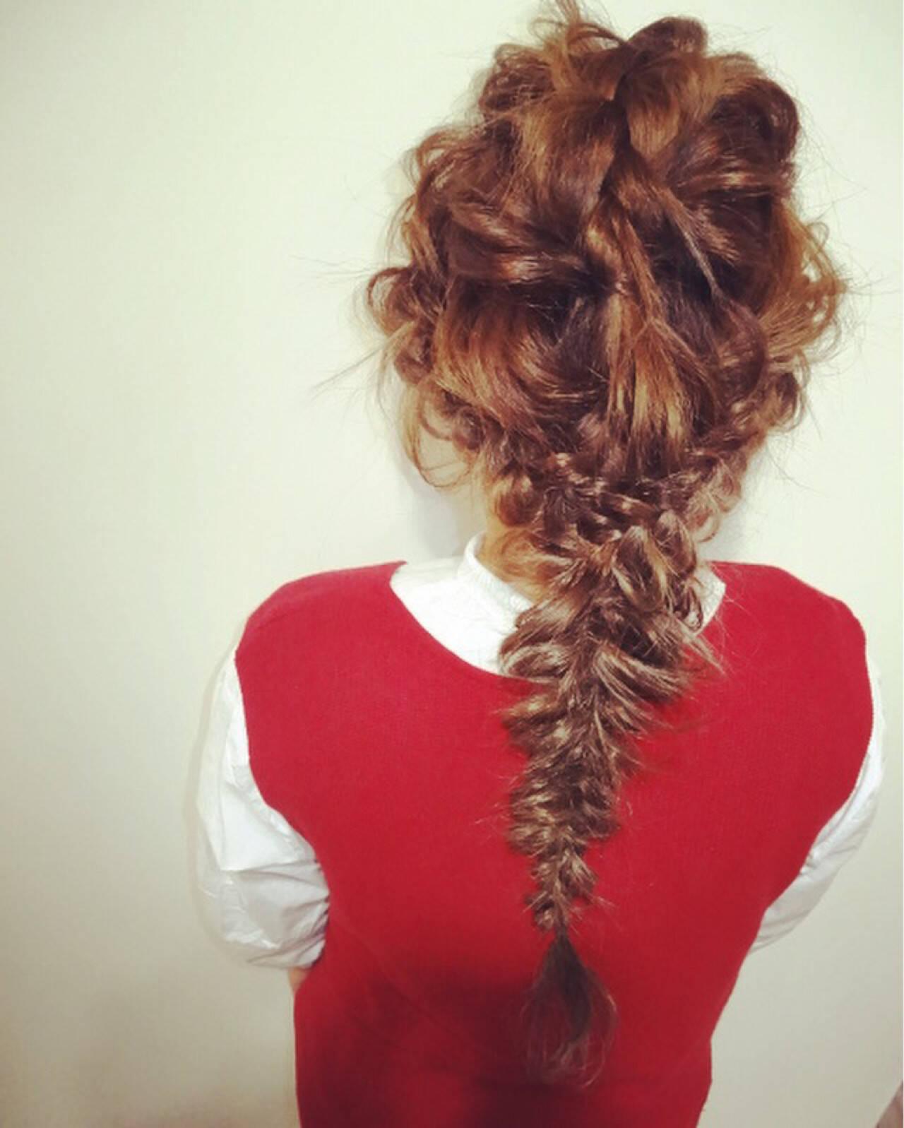 ヘアアレンジ 簡単ヘアアレンジ 大人女子 ゆるふわヘアスタイルや髪型の写真・画像