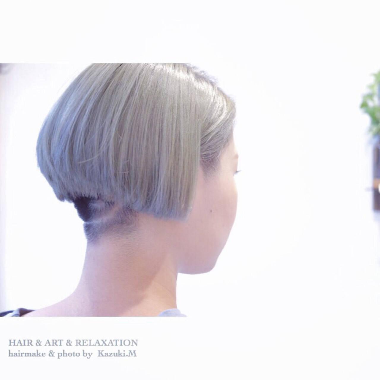 大人女子 ボブ モード 坊主ヘアスタイルや髪型の写真・画像