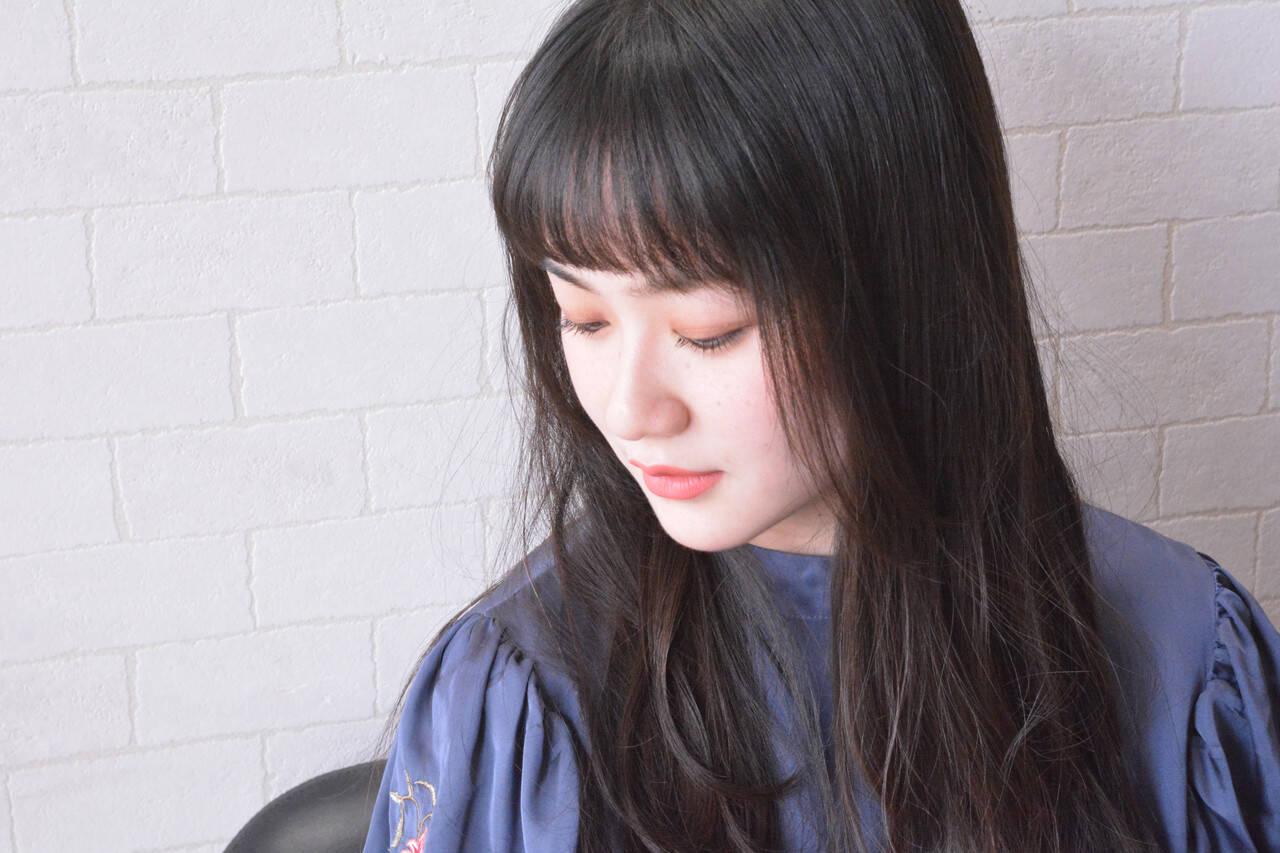 髪質改善 ロング フェミニン 髪質改善トリートメントヘアスタイルや髪型の写真・画像