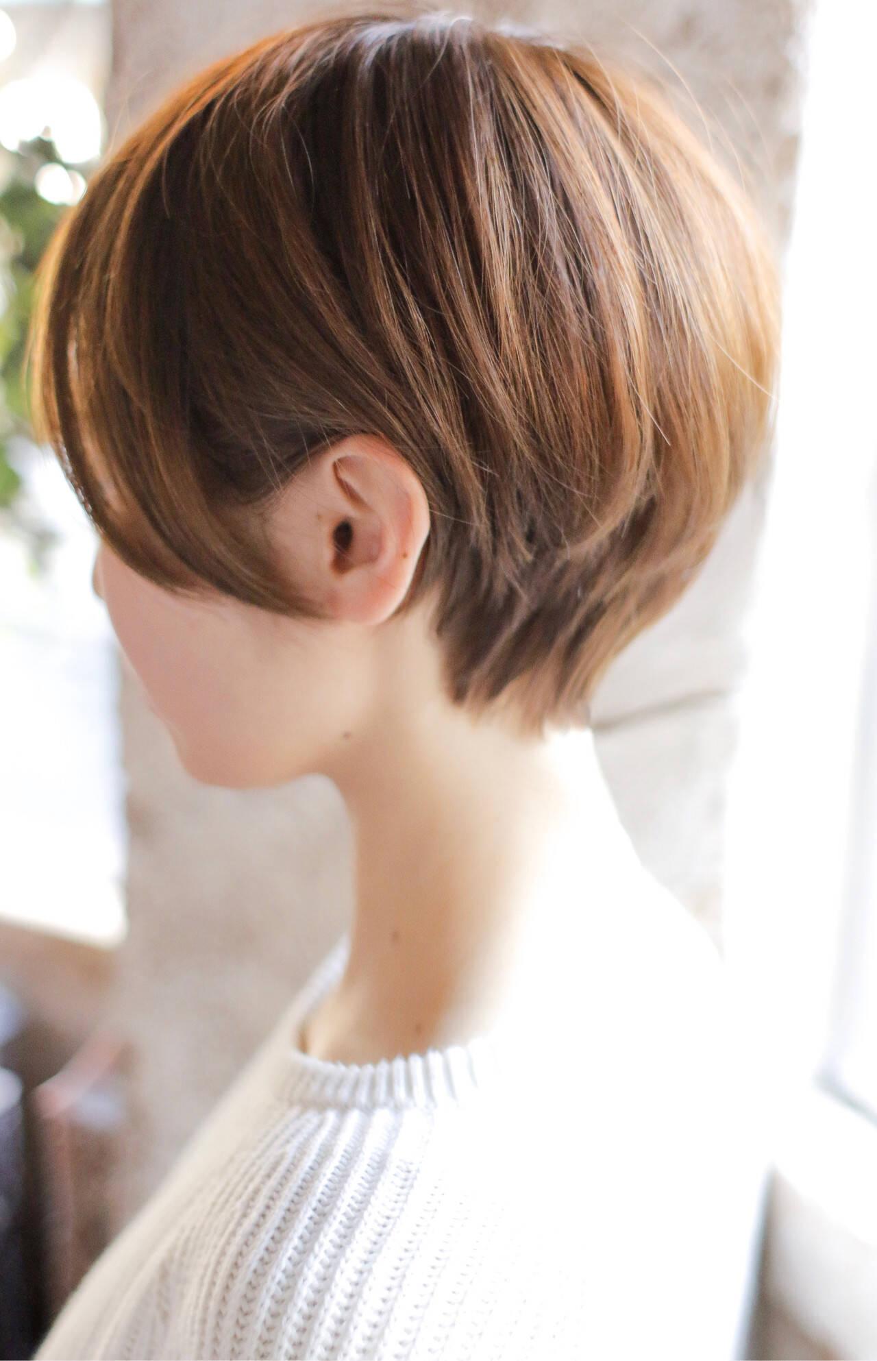ショート モード 簡単ヘアアレンジヘアスタイルや髪型の写真・画像