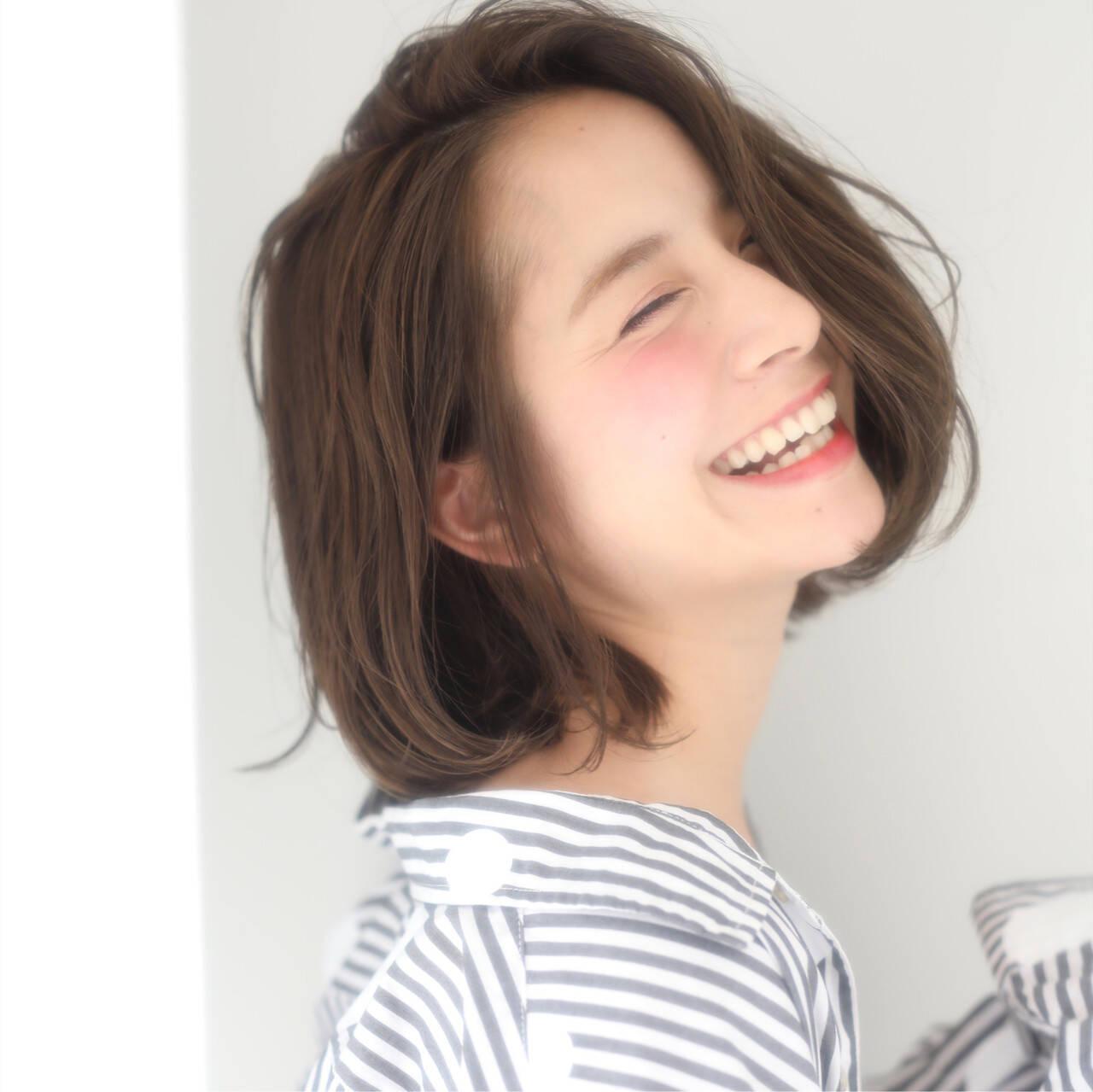簡単ヘアアレンジ アンニュイほつれヘア デート モテボブヘアスタイルや髪型の写真・画像
