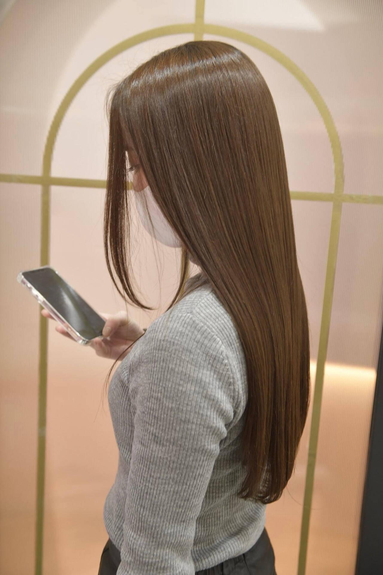ナチュラル 艶髪 トリートメント 髪質改善トリートメントヘアスタイルや髪型の写真・画像