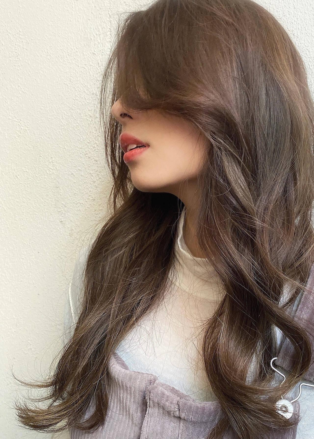 ロングヘア イルミナカラー デジタルパーマ ロングヘアスタイルや髪型の写真・画像