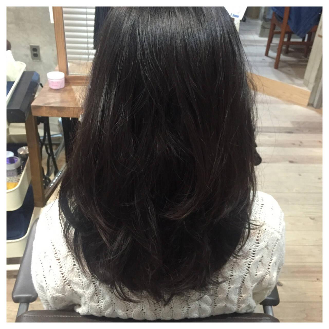 大人かわいい 黒髪 ゆるふわ ロングヘアスタイルや髪型の写真・画像