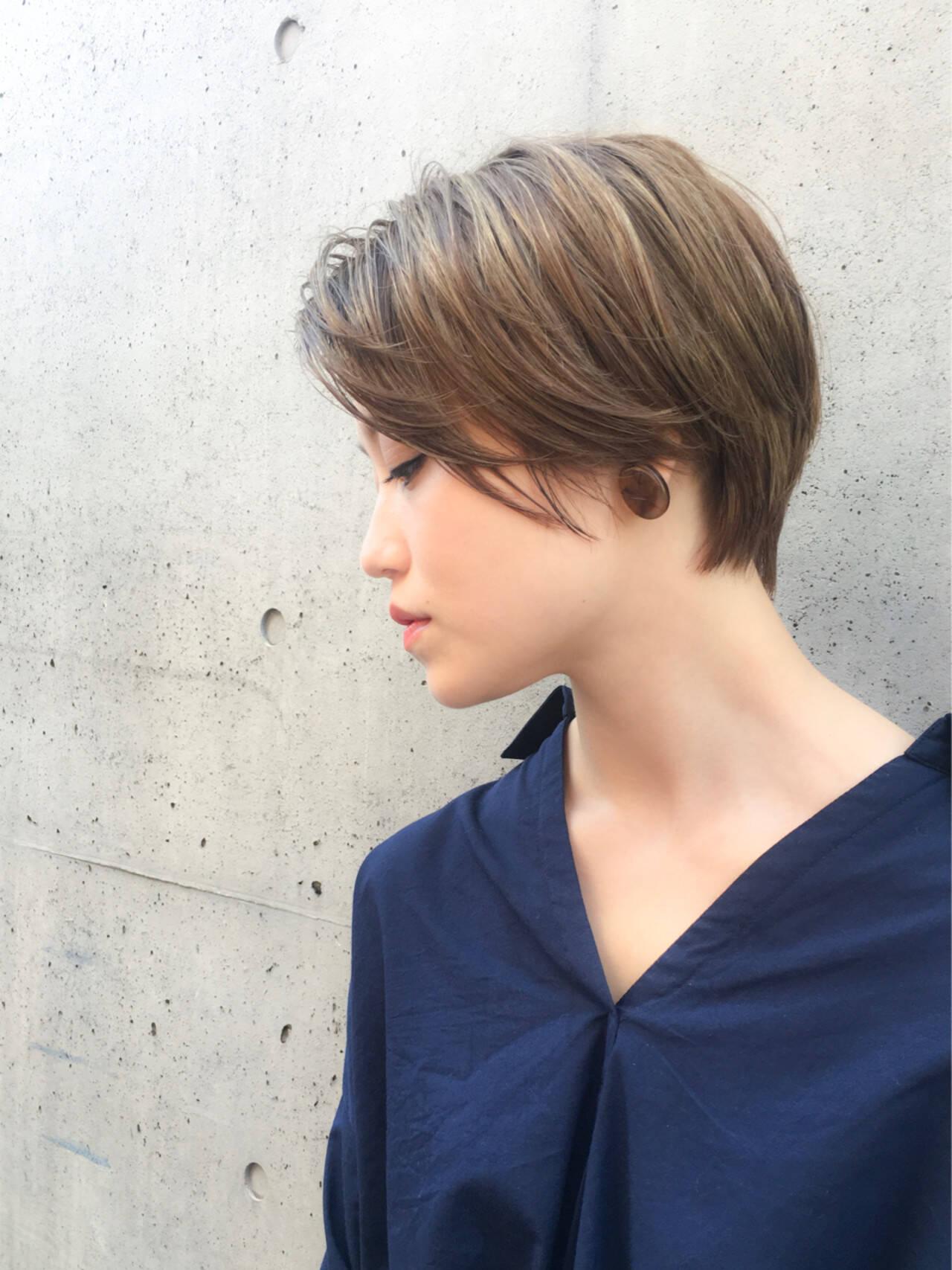 大人かわいい ショート 大人女子 ナチュラルヘアスタイルや髪型の写真・画像