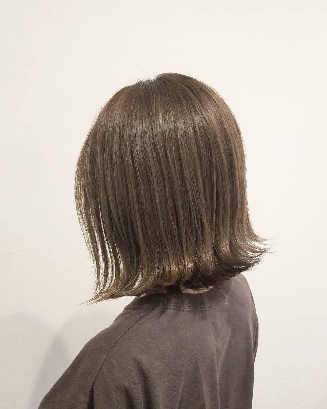 秋 女子力 ボブ 透明感ヘアスタイルや髪型の写真・画像