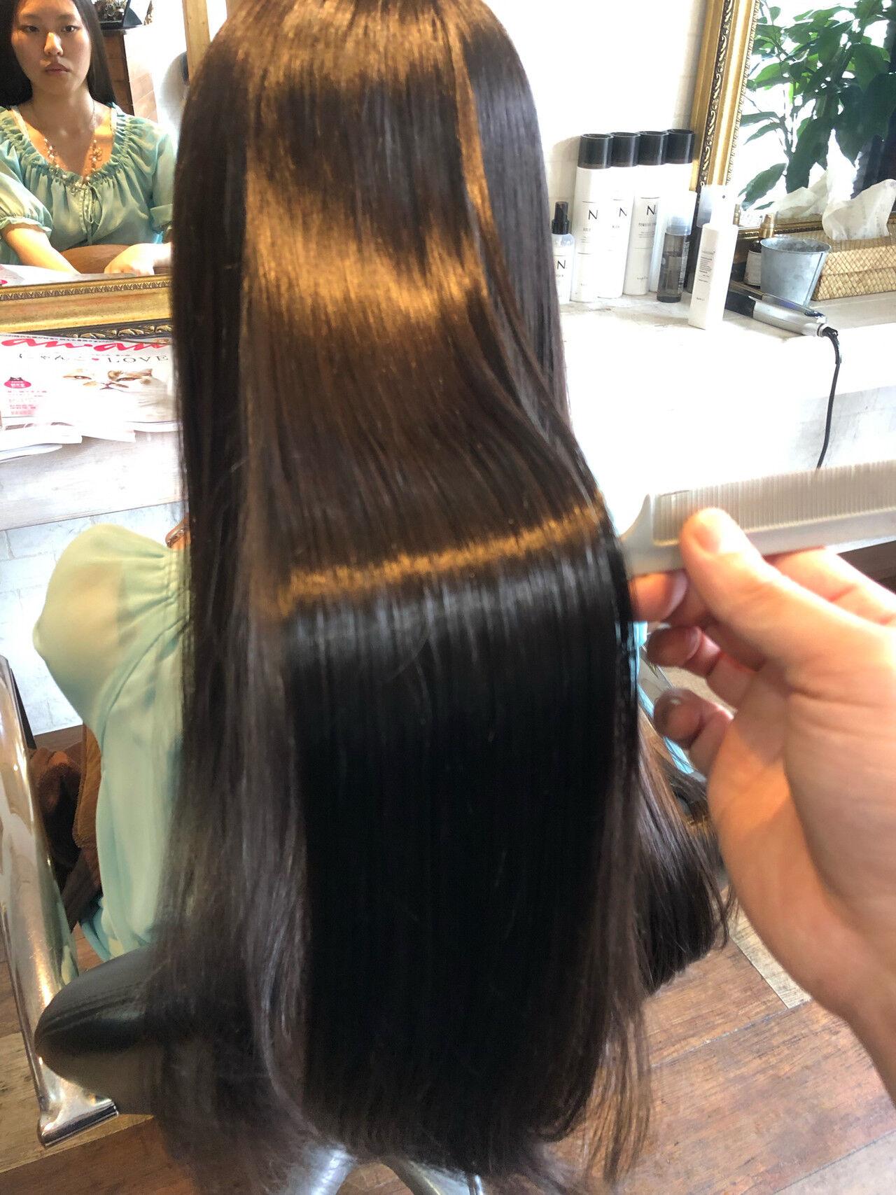 髪質改善カラー 髪質改善トリートメント 縮毛矯正 美髪ヘアスタイルや髪型の写真・画像