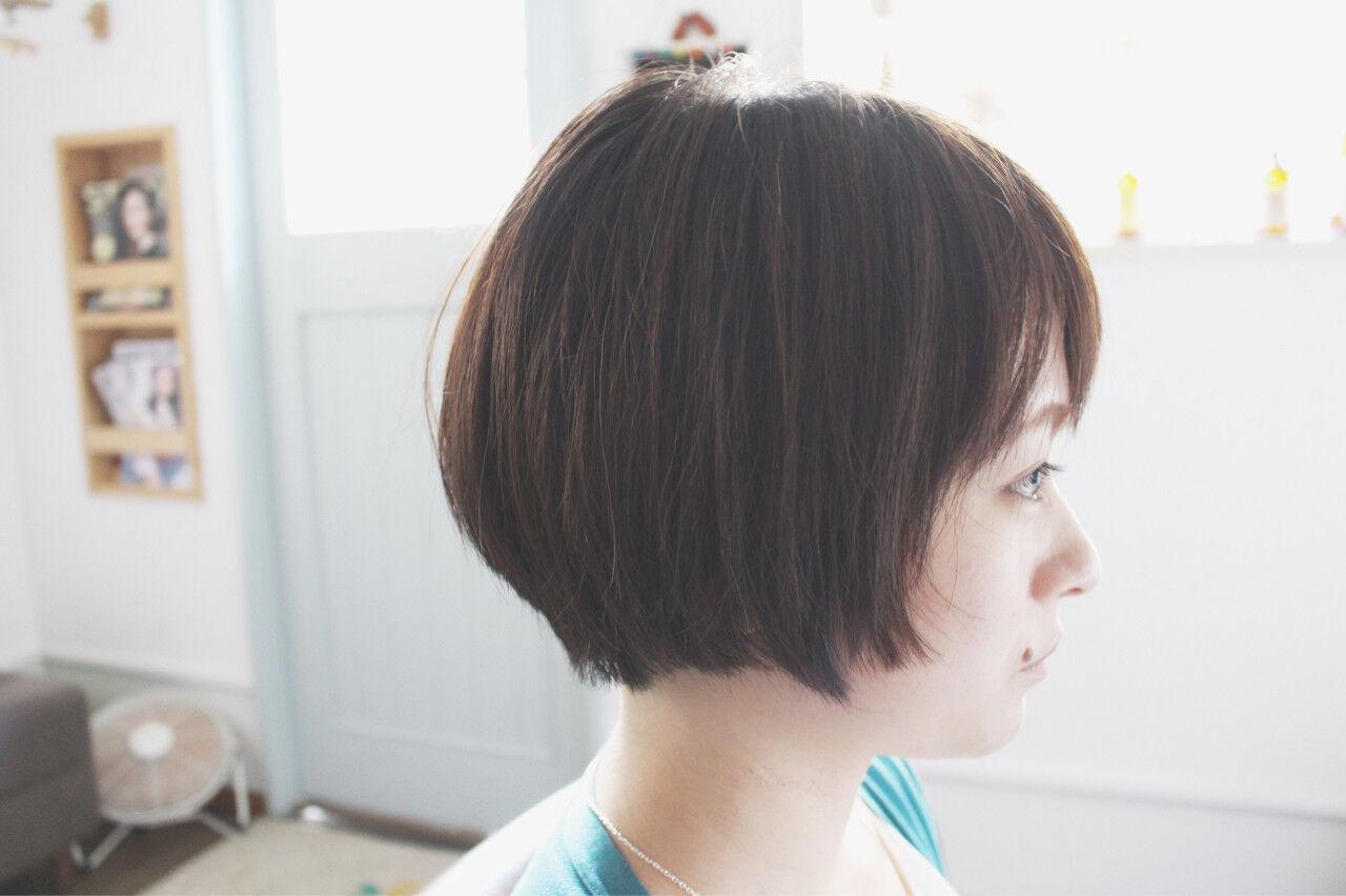 ナチュラル ボブ 色気 マッシュヘアスタイルや髪型の写真・画像