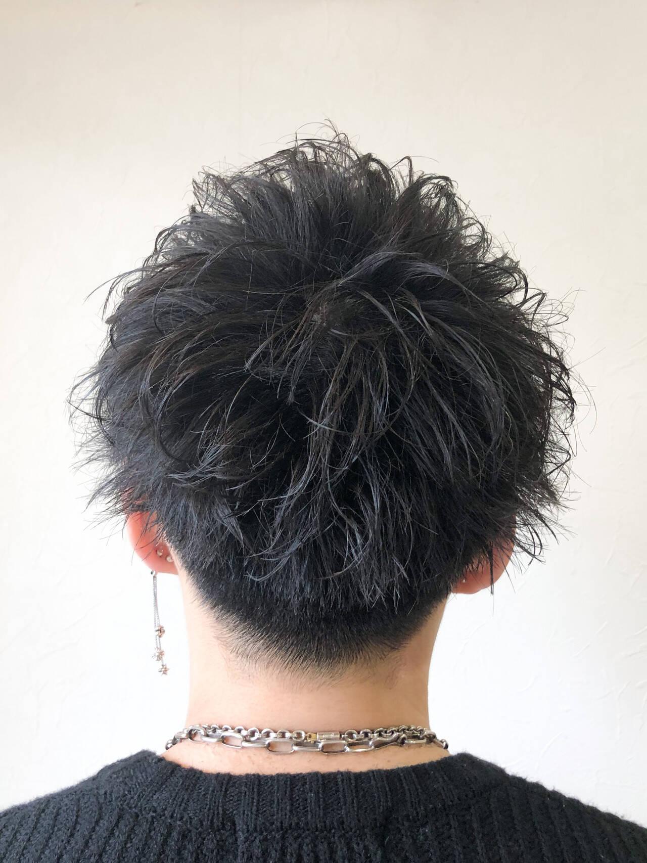 刈り上げ ショート メンズ メンズカットヘアスタイルや髪型の写真・画像