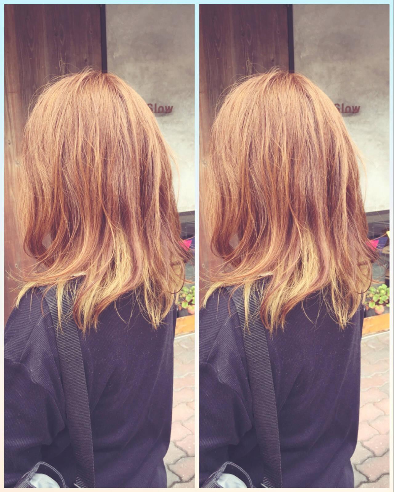 ストリート インナーカラー 外国人風 イエローヘアスタイルや髪型の写真・画像