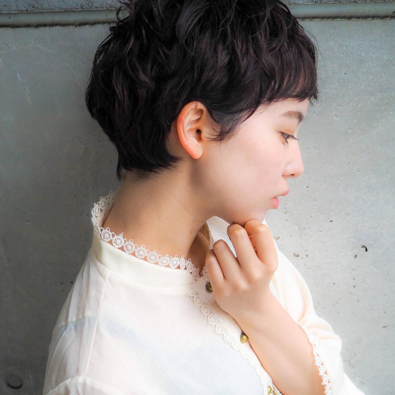 ショート 大人かわいい ベリーショート ショートボブヘアスタイルや髪型の写真・画像