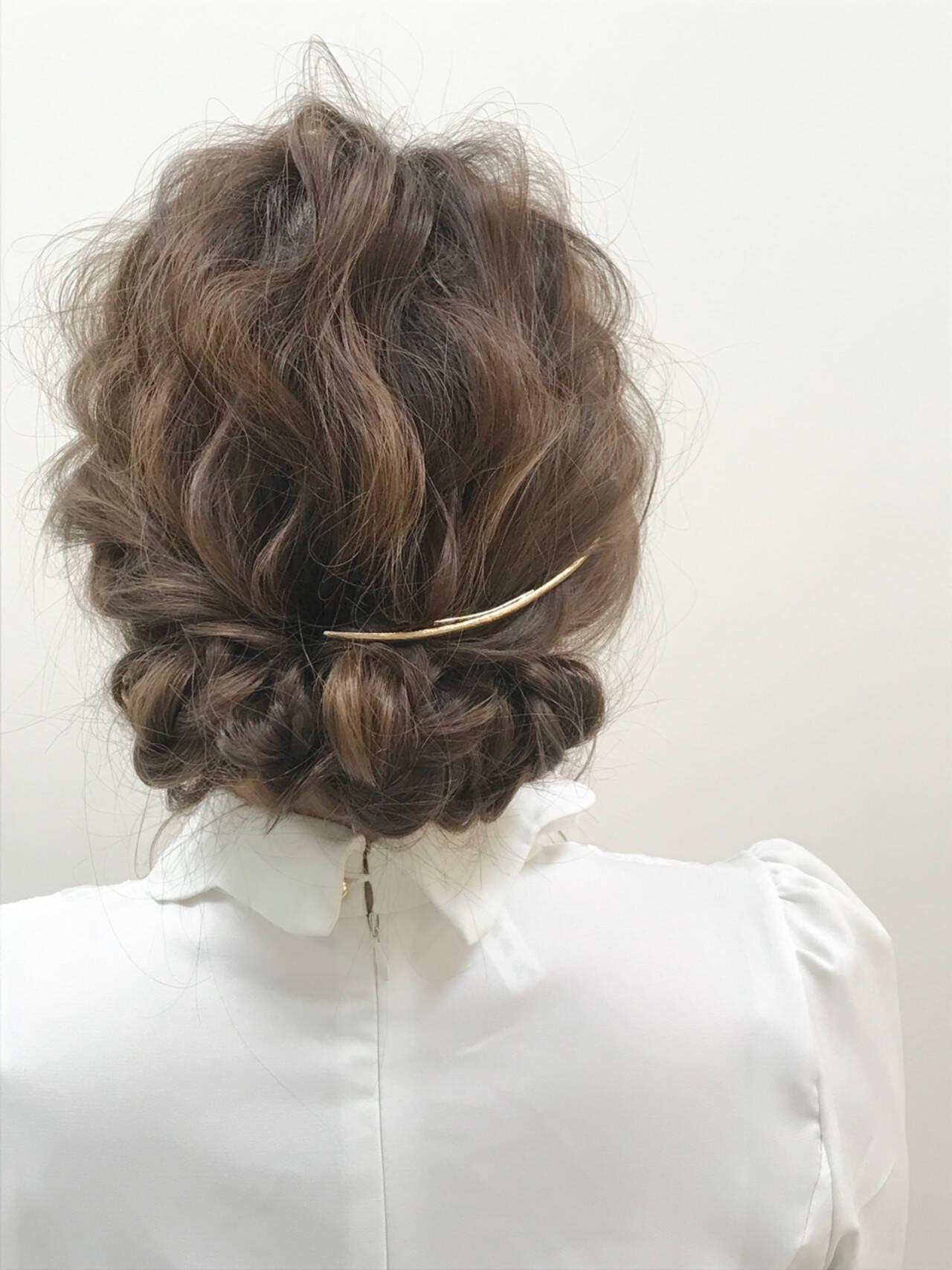 ゆるふわ ロング 結婚式 ギブソンタックヘアスタイルや髪型の写真・画像