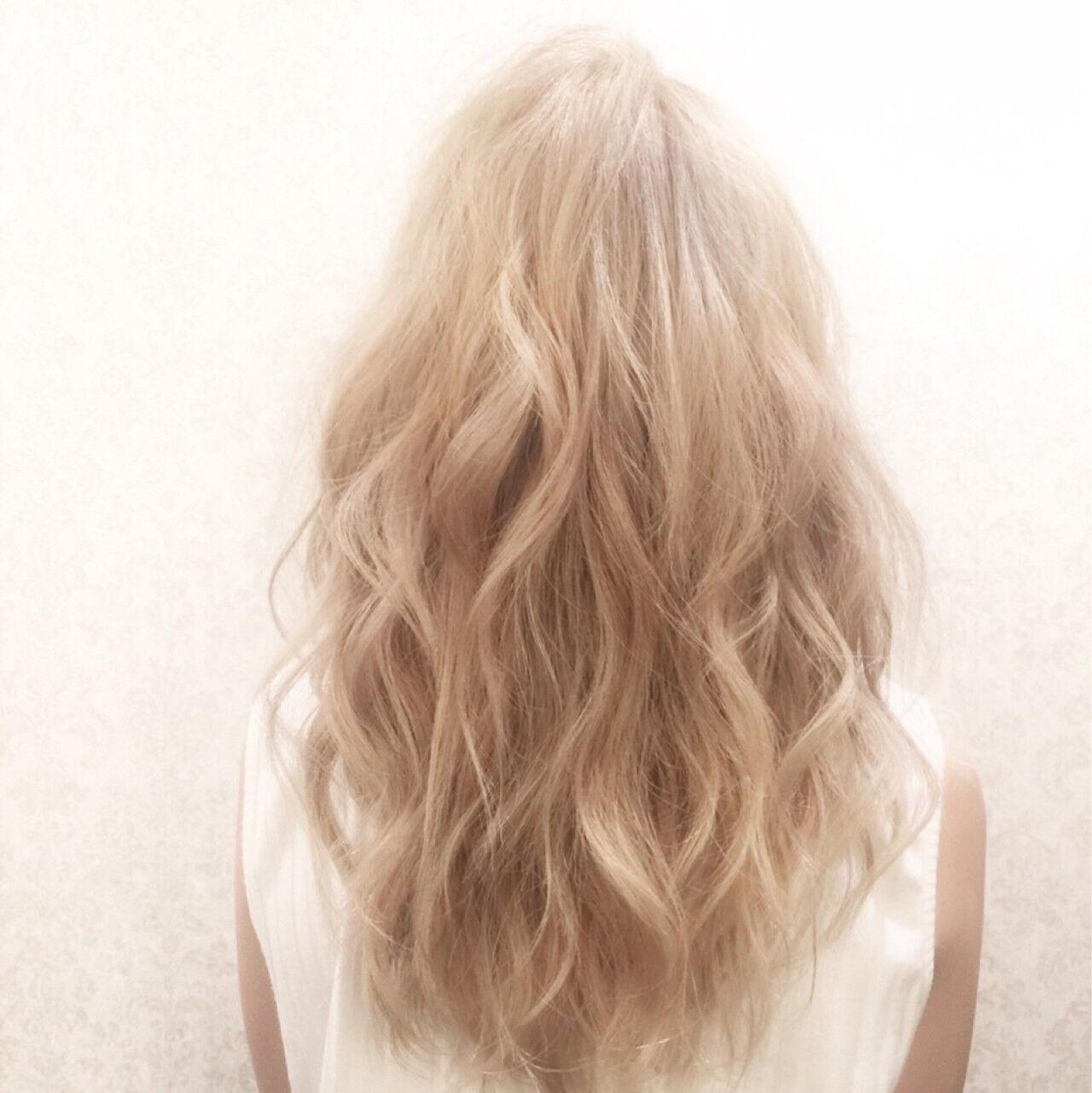 渋谷系 ブリーチ ガーリー ハイトーンヘアスタイルや髪型の写真・画像