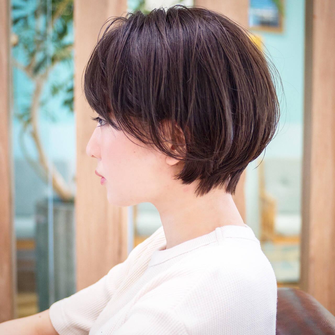 ナチュラル ショートカット ショート ショートボブヘアスタイルや髪型の写真・画像