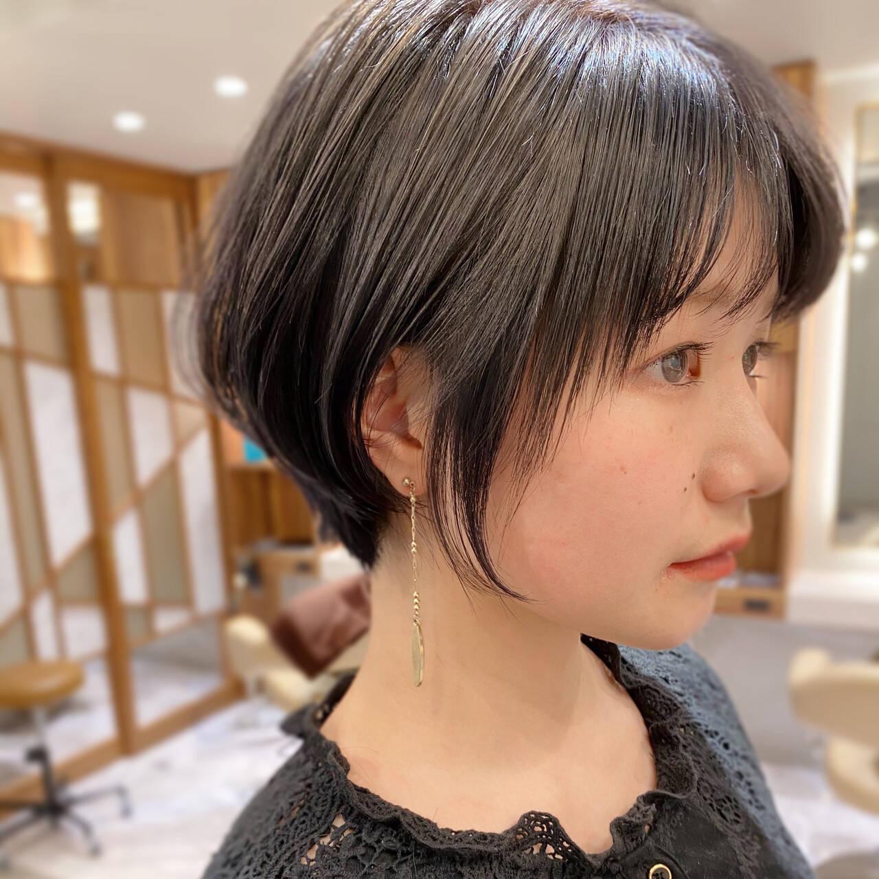 ショートヘア ナチュラル ショートボブ ベリーショートヘアスタイルや髪型の写真・画像