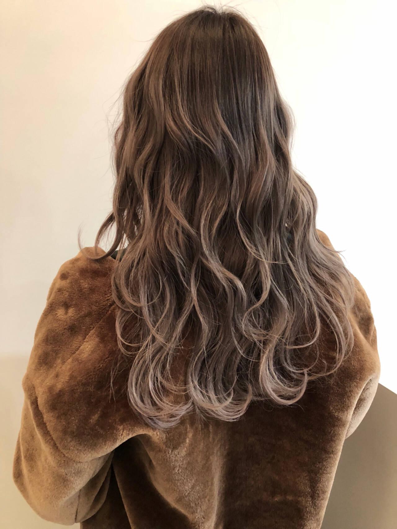 外国人風カラー ロング ハイライト ストリートヘアスタイルや髪型の写真・画像