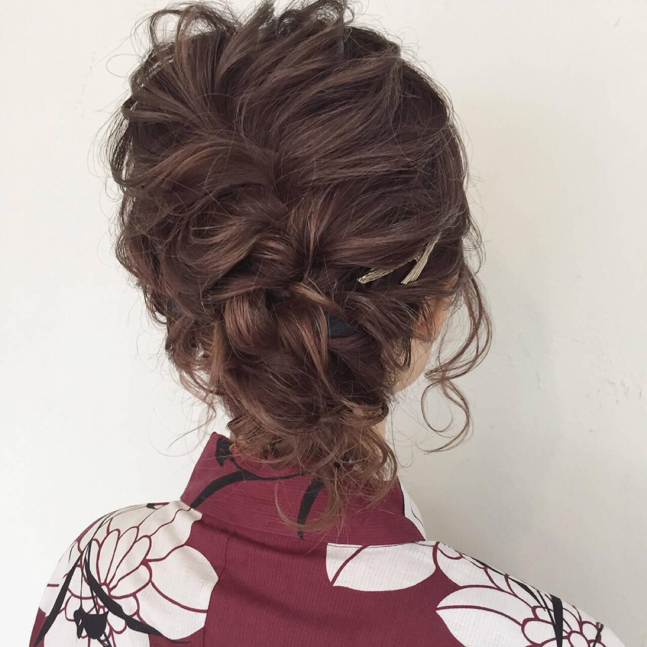 デート お祭り 花火大会 フェミニンヘアスタイルや髪型の写真・画像