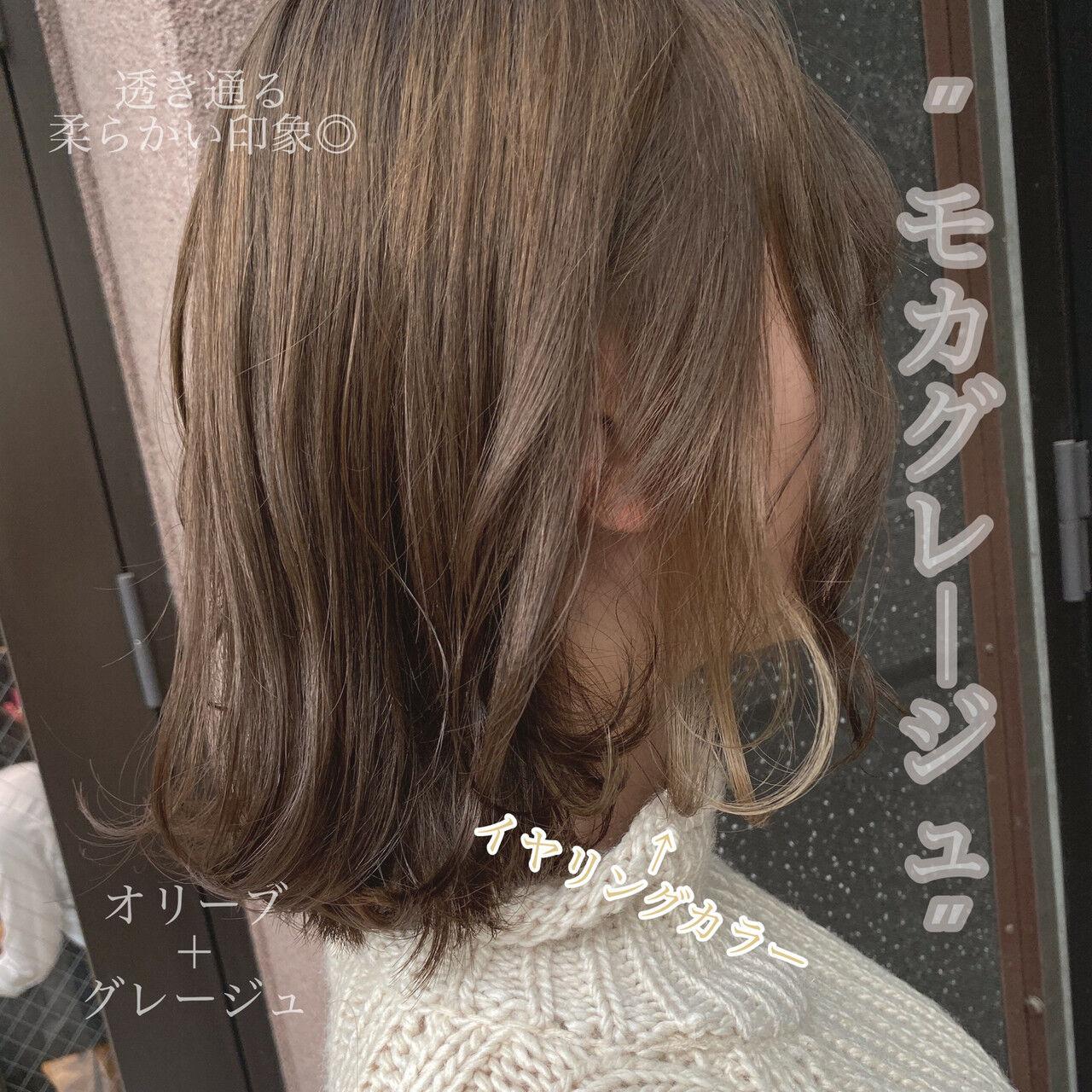 ミニボブ ボブ インナーカラー フェミニンヘアスタイルや髪型の写真・画像