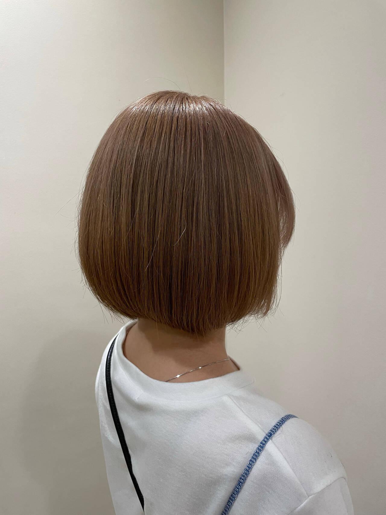 ショートヘア ボブ ショートボブ ミニボブヘアスタイルや髪型の写真・画像