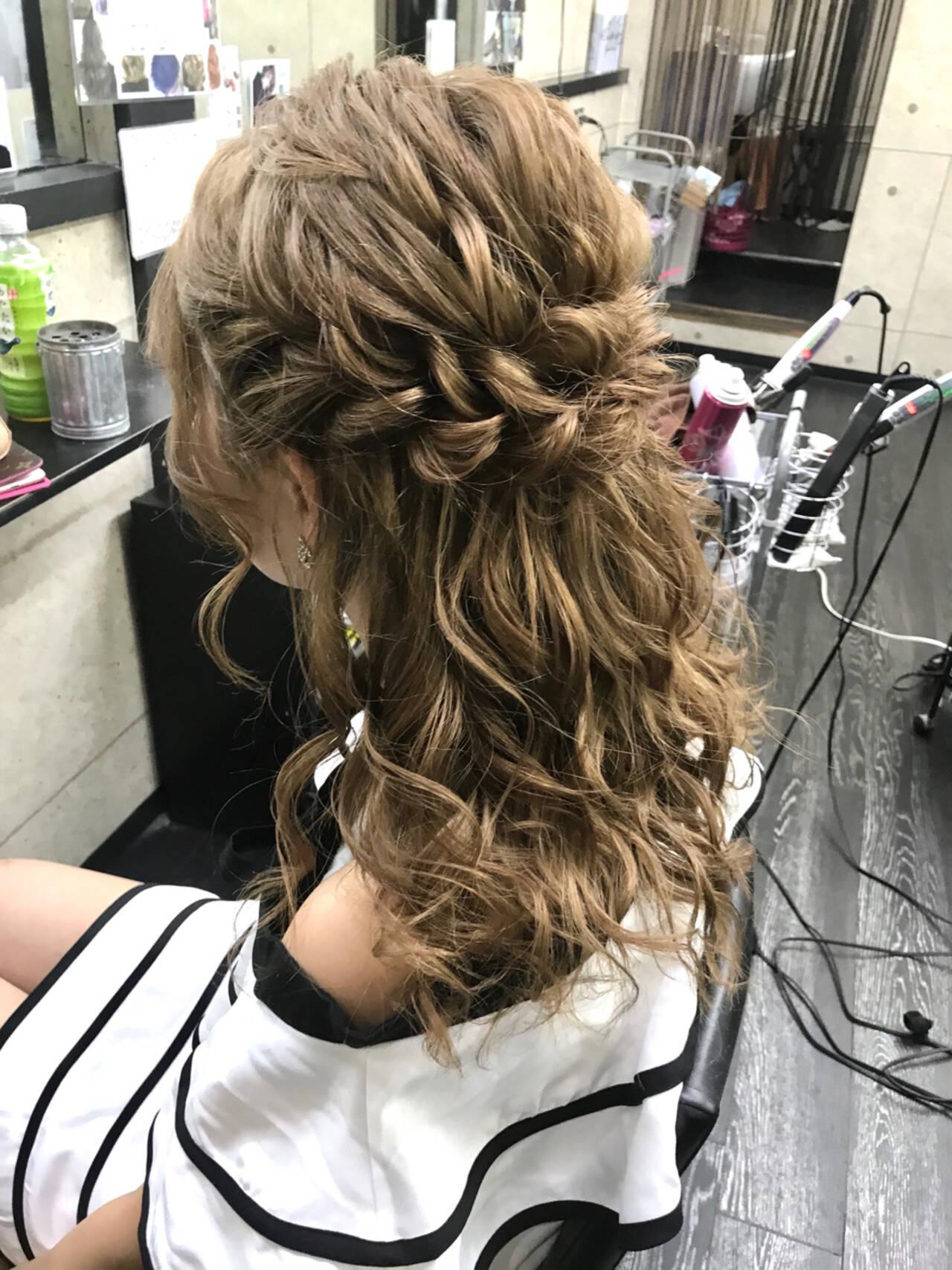 ミディアム 結婚式 ヘアアレンジ デートヘアスタイルや髪型の写真・画像