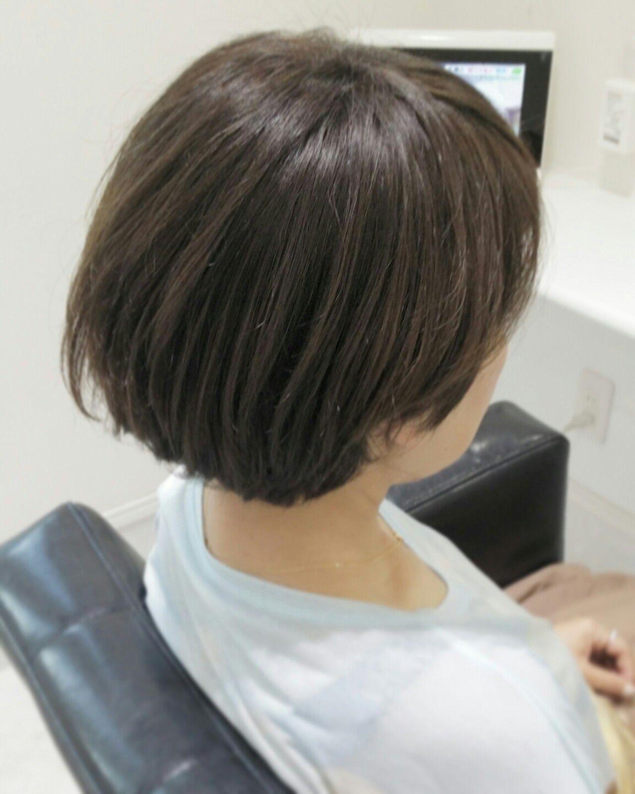 ボブ 暗髪 モード ショートヘアスタイルや髪型の写真・画像