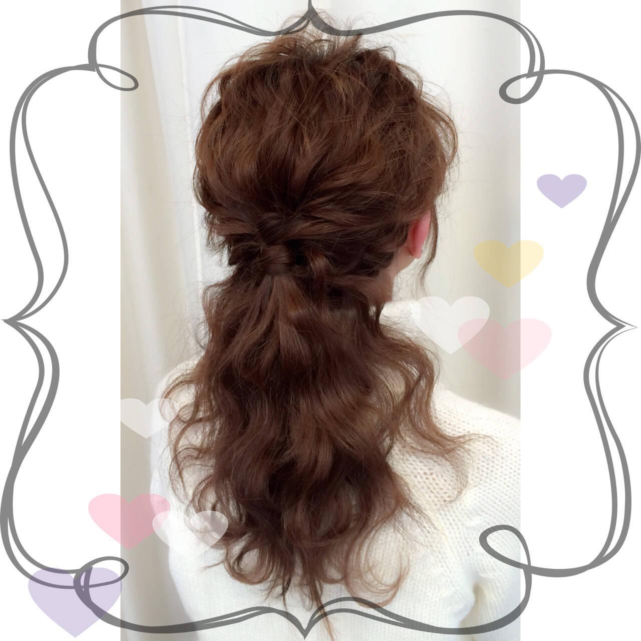簡単ヘアアレンジ ヘアアレンジ 外国人風 ハーフアップヘアスタイルや髪型の写真・画像