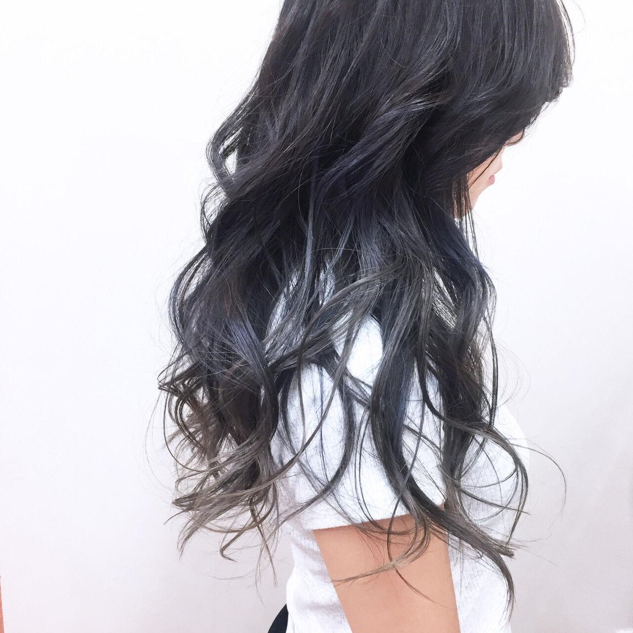 透明感 ラベンダーアッシュ フェミニン 秋ヘアスタイルや髪型の写真・画像