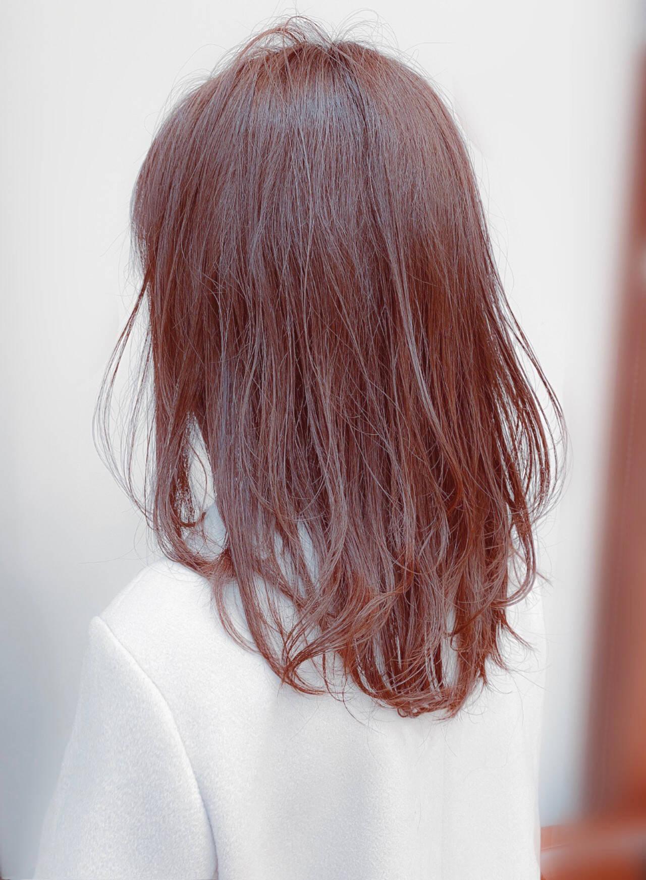 スウィングレイヤー レイヤーヘアー セミロング レイヤーカットヘアスタイルや髪型の写真・画像