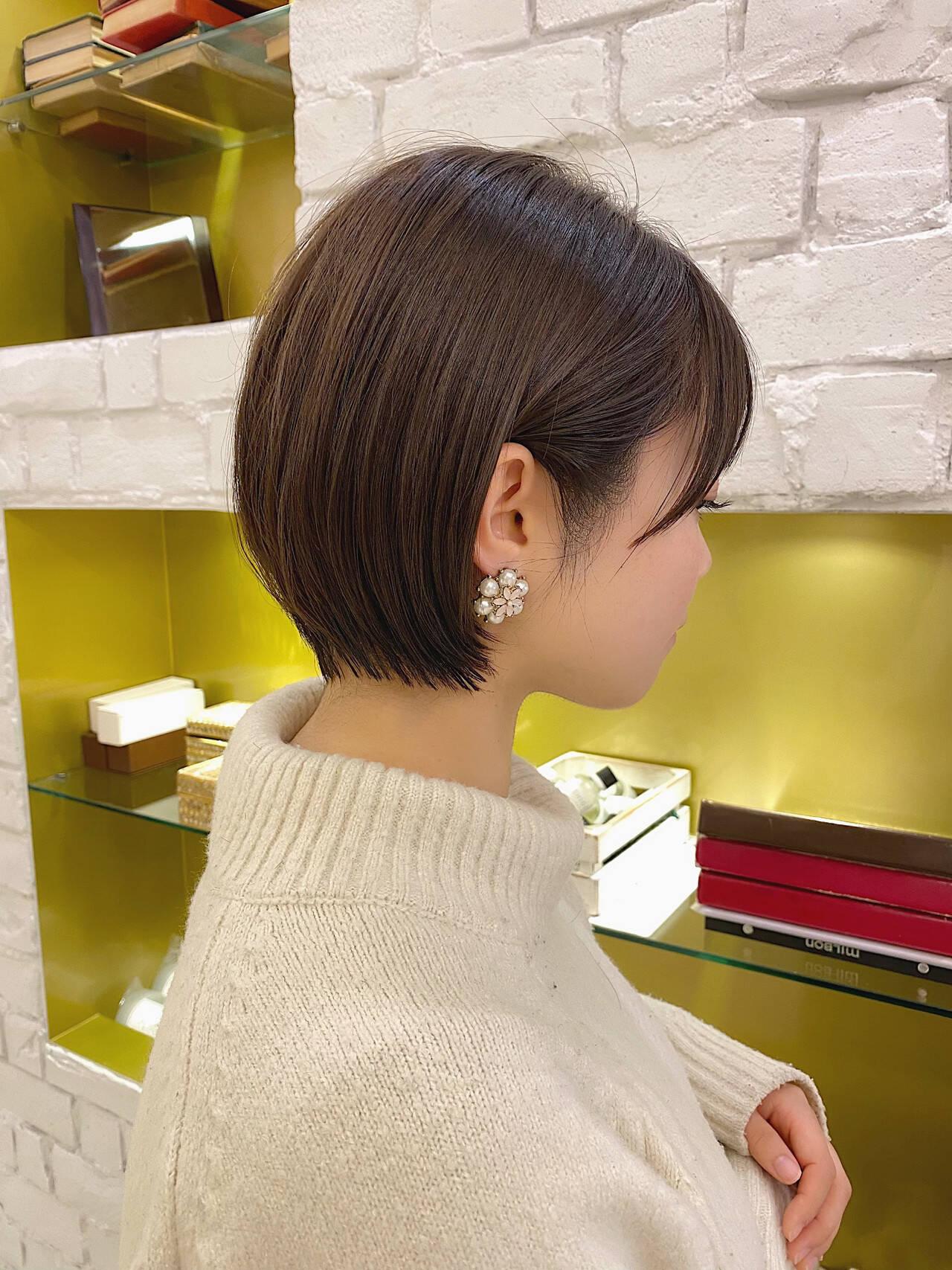 ミニボブ ベリーショート ショートヘア ショートボブヘアスタイルや髪型の写真・画像